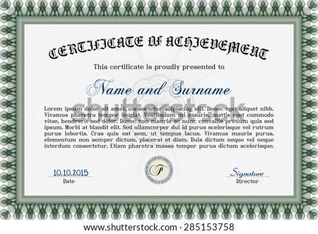 diploma complex design guilloche pattern diploma stock vector  diploma complex design guilloche pattern diploma of completion