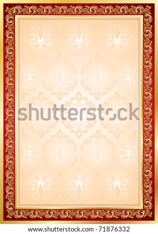 diploma certificate frame background golden border stock vector  diploma or certificate frame and background golden border and red decor vector floral or nt