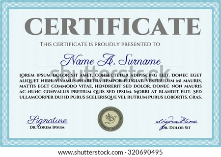 diploma or certificate template beauty design with background diploma of completion