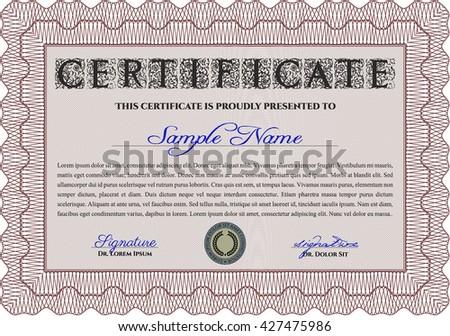 blue diploma certificate template complex background stock vector  diploma or certificate template vector illustration complex background lovely design red