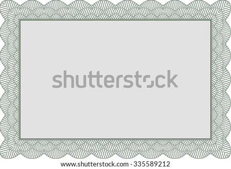 Diploma template or certificate template. Artistry design. Vector pattern that is used in money and certificate.With great quality guilloche pattern.