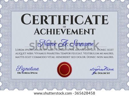 Diploma Template Certificate Template Cordial Design Stock Vector ...
