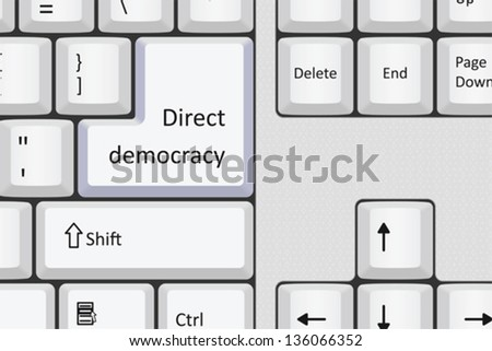 Direct democracy - stock vector