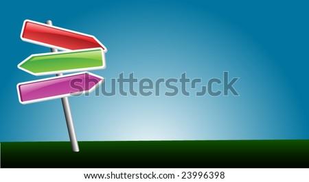 direction arrows - stock vector