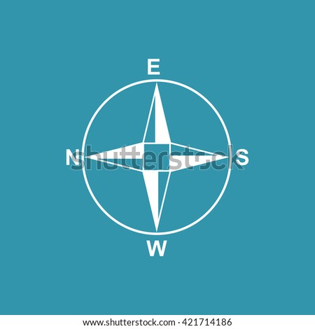 Direction Compass Icon. Eps-10.