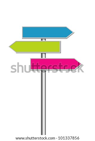 Direction road signs - stock vector