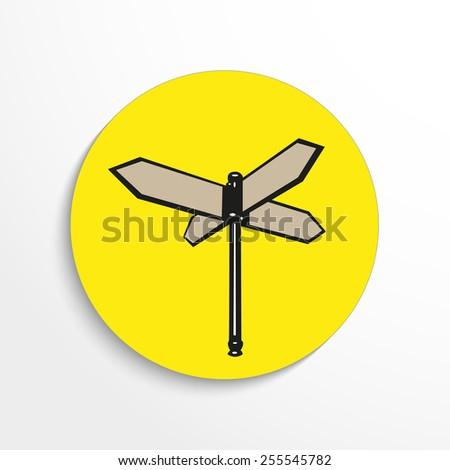 Direction road signs 3d view illustration. - stock vector