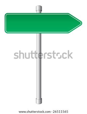 Direction sign - stock vector