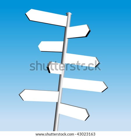 direction sign vector - stock vector