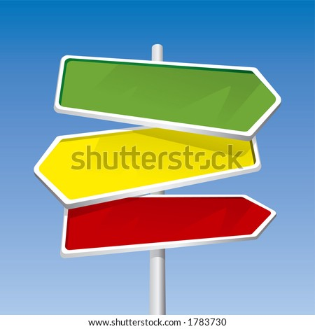 Direction Signs (editable vector) - also available rasterized jpeg in this gallery - stock vector
