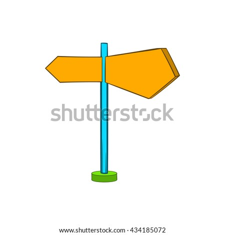 Direction signs icon in cartoon style - stock vector