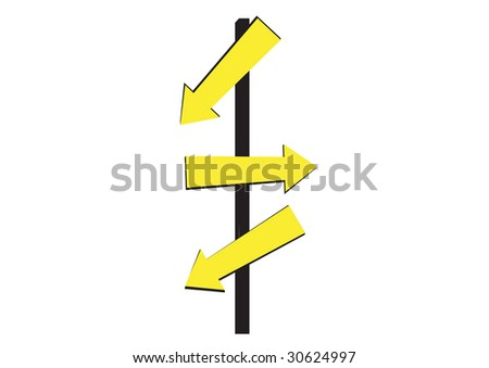 Direction Signs vector - stock vector
