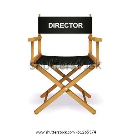 Director chair on white. Vector