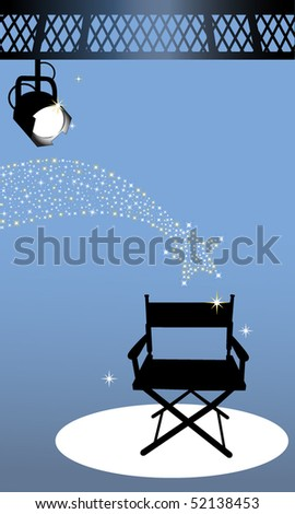 Director's chair - stock vector