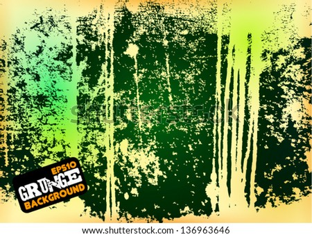 Dirty Colored Grunge Background - stock vector