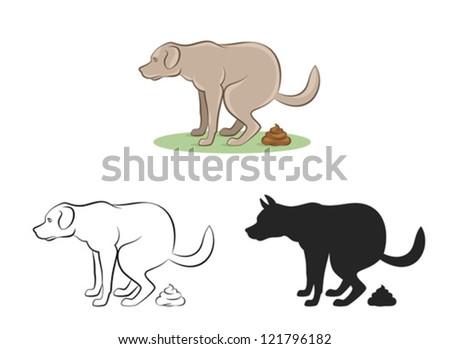 Dirty dog - stock vector