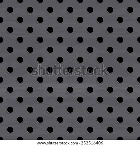dirty metal round grid seamless pattern - stock vector