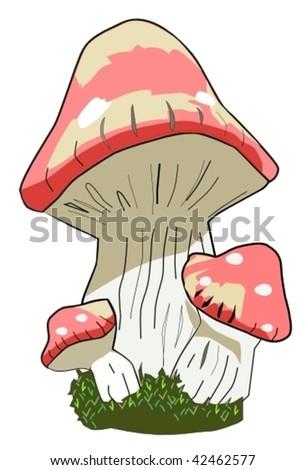 dirty mushroom - stock vector