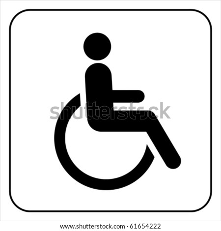disabled icon  sign vector - stock vector