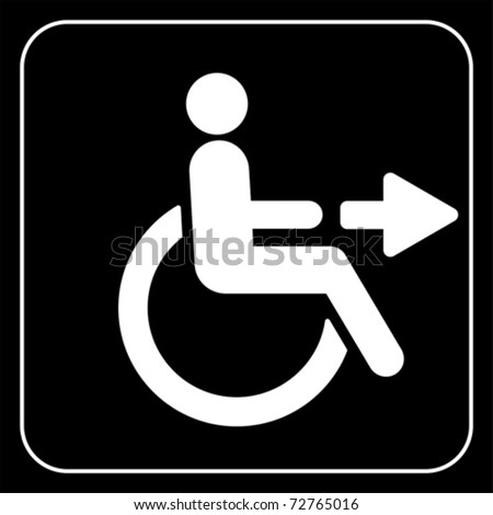 disabled icon sign, vector - stock vector