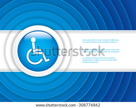 Disabled persons supporting hospital brochure - medical background - stock vector