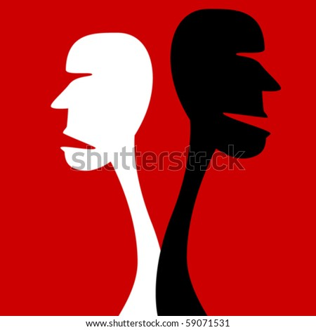 Disagreement. - stock vector