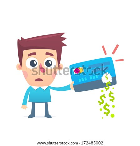 Disappearance of money from credit card - stock vector