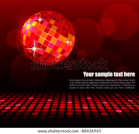 Disco background - stock vector
