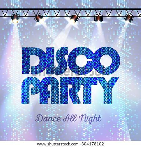 Disco background. Disco party - stock vector