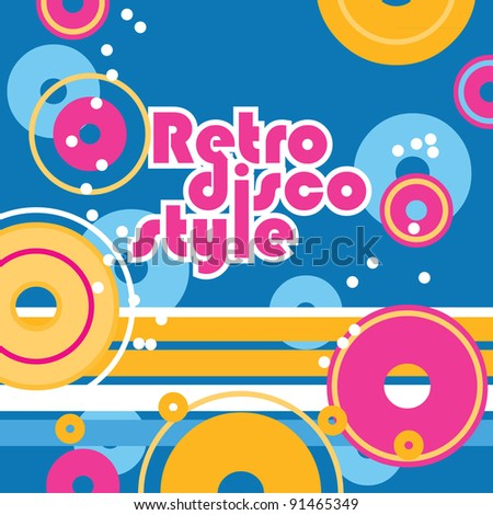 Disco background. Retro style. Vector background for your design. - stock vector