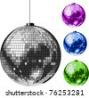 Disco Ball. All elements and textures are individual objects. Vector illustration scale to any size. - stock photo