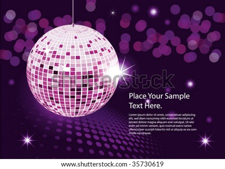 Disco ball. vector abstract background night party - stock vector