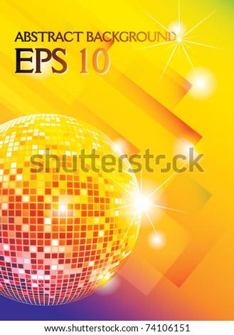 disco ball vector background - stock vector