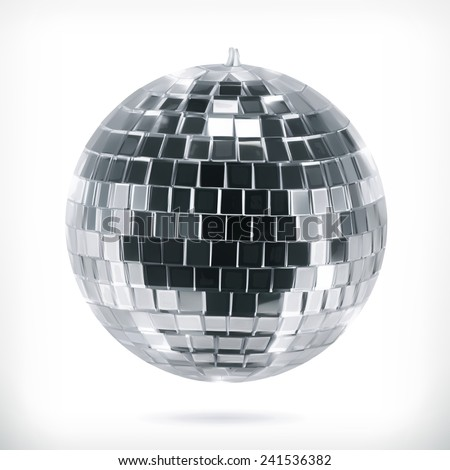 Disco ball, vector icon - stock vector