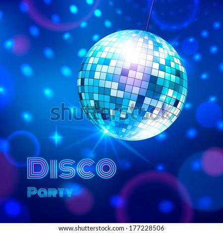 Disco ball. Vector illustration. - stock vector