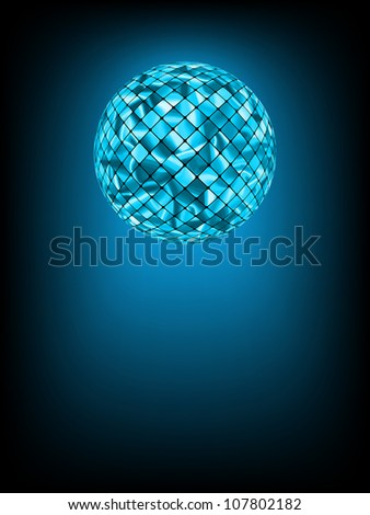 Disco ball with glow in haze. EPS 8 vector file included - stock vector