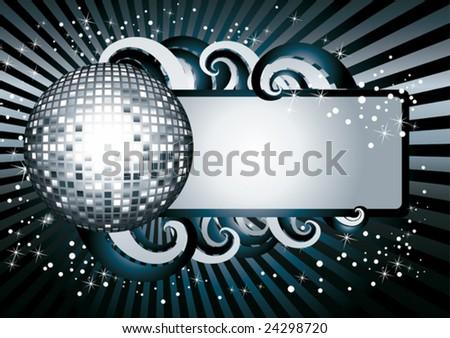 Disco banner - stock vector