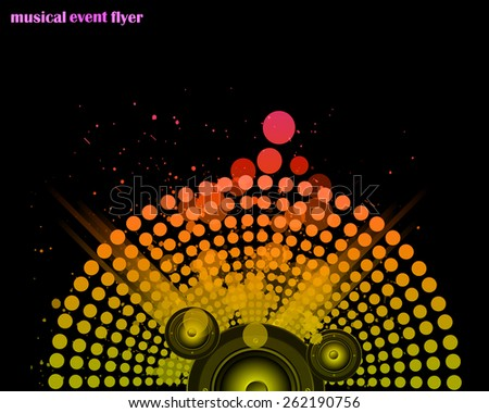 Disco club flayer with colorful elements. Ideal for poster and music background - stock vector