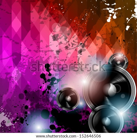 Disco club flyer template. Abstract background to use for music event posters or album covers. - stock vector