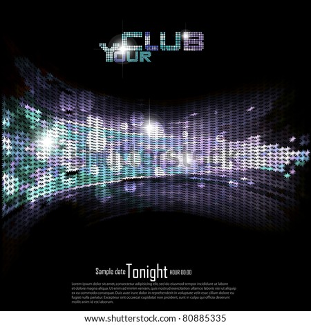 Disco | Club invitation background.Vector illustration. - stock vector