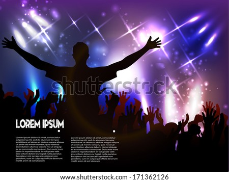 Disco club. vector background