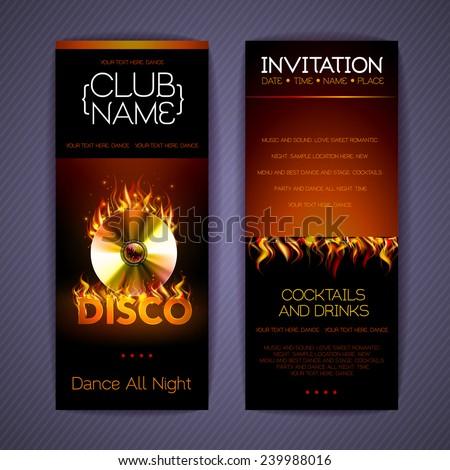 Disco Corporate identity templates. Disco background - stock vector