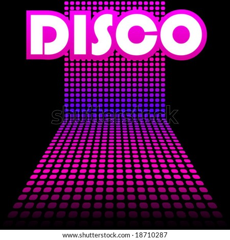 Disco cover template. vector