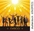 Disco evening. - stock vector