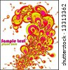 Disco explosion. Beautiful vector illustration. - stock vector