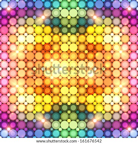 Disco flash lights vector colorful seamless pattern - stock vector