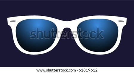 disco glasses with blue lenses - stock vector