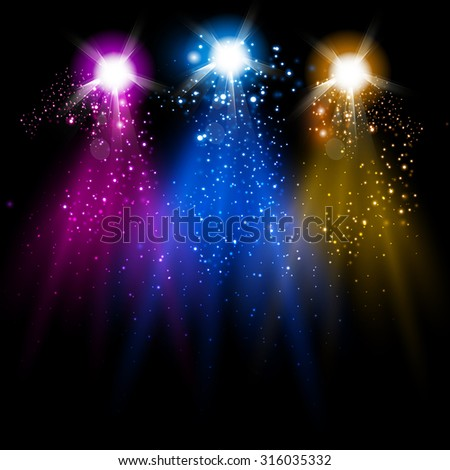 disco light and Sparkling you can easy editable - stock vector