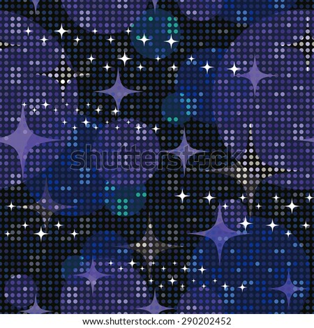 Disco lights background. Seamless pattern. Vector. - stock vector