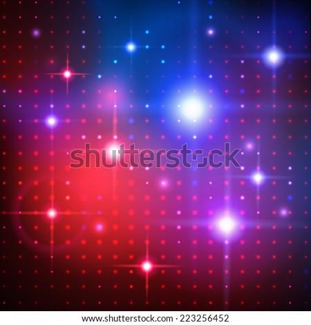 Disco lights. Vector background. - stock vector